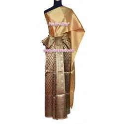 ชุดผ้าไทย BB สีเลือดหมู (สไบ+ผ้าฯยาว 4 หลา*แบบจับสด) รายละเอียดในหน้าสินค้า