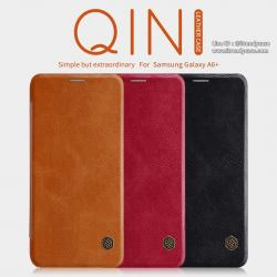 Samsung A6 Plus 2018 - เคสฝาพับ หนัง Nillkin QIN Leather Case แท้