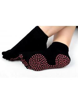 ถุงเท้าโยคะกันลื่น Socks Yoga สีดำ จุดชมพู