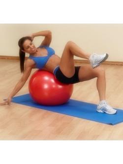 หุ่นเฟิร์ม เป็นคนใหม่ด้วยลูกบอลโยคะ (Fitness Ball) ขนาด 55cm สีแดง