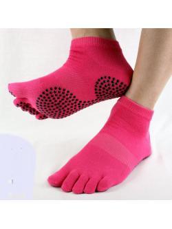 ถุงเท้าโยคะ สีชมพูเข้ม