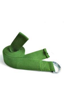 เข็มขัดโยคะเชือกโยคะ สีเขียวเข้ม