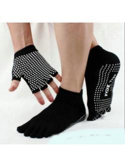 ถุงมือ+ถุงเท้า โยคะ กันลื่น