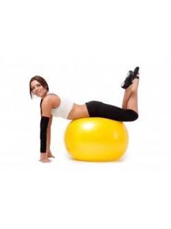 หุ่นเฟิร์ม เป็นคนใหม่ด้วยลูกบอลโยคะ (Fitness Ball) ขนาด 65cm สีเหลือง