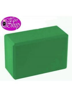 Yoga Block (EVA) สีเขียวเข้ม