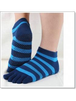 ถุงเท้าโยคะ ลาย สีน้ำเงิน ฟ้า