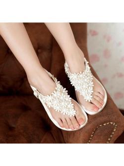 รองเท้า รัดส้นแตงดอกไม้ สุดน่ารัก