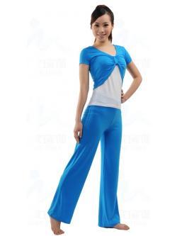 ชุดเล่นโยคะ/ชุดออกกำลังกาย/ชุดเล่นพีลาทีส สีฟ้า