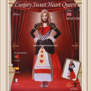 เช่าชุดแฟนซีราชินีโพแดง สีแดงดำ Luxury Sweet Heart Queen