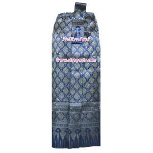 ผ้าถุงป้าย-หน้านาง BM-8 สีน้ำเงิน (เอวใส่ได้ถึง 32 นิ้ว) *แบบสำเร็จรูป-รายละเอียดตามหน้าสินค้า