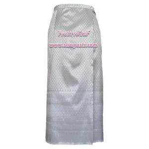 """ผ้าถุงป้ายข้างฯ สีเทา (เอวใส่ได้ถึง 34"""") *ตรวจสอบรายละเอียดสินค้าในหน้าฯ"""