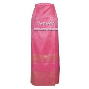 ผ้าถุงป้ายข้างฯ สีชมพู (เอวใส่ได้ถึง 34 นิ้ว) *ตรวจสอบรายละเอียดสินค้าในหน้าฯ