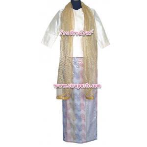 """ตัวอย่าง ชุดพม่า A9 (เสื้อฯ-34""""/ผ้าถุงฯเอว-30"""") *รายละเอียดในหน้าสินค้า"""