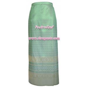 ผ้าถุงป้ายข้าง สีเขียวมิ้นท์ TC2 (เอวใส่ได้ถึง 32/34/38 นิ้ว) *รายละเอียดสินค้าในหน้าฯ