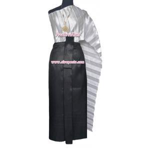 """ชุดไทย-สีดำ A7 (สไบโบราณ+ผ้าถุงฯเอวใส่ได้ถึง 35"""") *รายละเอียดในหน้าสินค้า"""