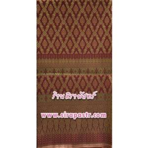 ผ้าลายไทย-I1 สีเลือดหมู *เลือกขนาด / รายละเอียดในหน้าสินค้า