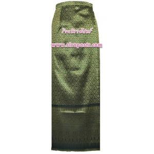 """ผ้าถุงป้ายข้างฯ สีเขียว (เอวใส่ได้ถึง 31"""") * ตรวจสอบรายละเอียดสินค้าในหน้าฯ"""