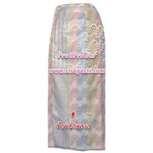 ผ้าถุง-พม่า A4 สีครีม (เอวใส่ได้ถึง 30 นิ้ว) *ตรวจสอบรายละเอียดในภาพ