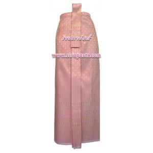 ผ้าถุงป้าย-หน้านาง B7-4 สีชมพูโอรส (เอวใส่ได้ถึง 33 นิ้ว) *แบบสำเร็จรูป-รายละเอียดตามหน้าสินค้า