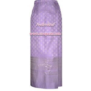"""ผ้าถุงป้ายข้างฯ-สีม่วง (เอวใส่ได้ถึง 30"""") *รายละเอียดสินค้าในหน้าฯ"""