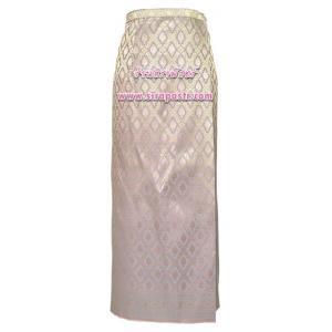 ผ้าถุงป้ายข้างฯ สีเทา-ชมพู (เอวใส่ได้ถึง 32 นิ้ว) *ตรวจสอบรายละเอียดสินค้าในหน้าฯ