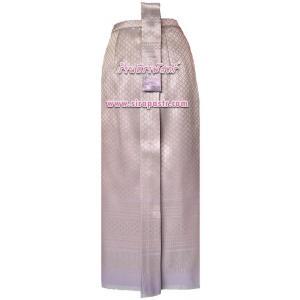 ผ้าถุงป้าย-หน้านาง NPA-2 สีม่วง (เอวใส่ได้ถึง 28 นิ้ว) *แบบสำเร็จรูป-รายละเอียดตามหน้าสินค้า