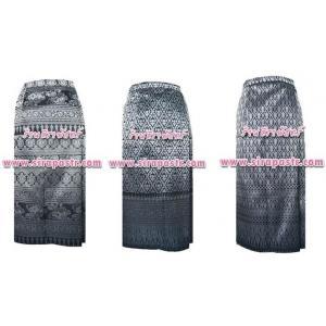 """ผ้าถุงป้ายข้าง สีดำ-L1 เอวใส่ได้ถึง 34"""" *รายละเอียดสินค้าในหน้าฯ (สินค้าลดราคา)"""