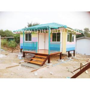บ้านน็อคดาวน์ ขนาด 4*6 ม. 2 ห้องนอน 1 ห้องน้ำ(ห้องเปิดประตูได้สองห้อง)