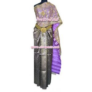 ชุดผ้าไทย BA (สไบ+ผ้าฯยาว 4 หลา*แบบจับสด) รายละเอียดในหน้าสินค้า **ไม่รวมสไบลูกไม้**