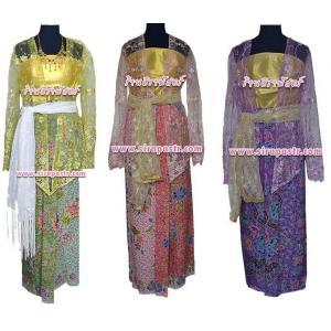 """ชุดอินโดนีเซีย C3-A (ผ้าถุงฯเอวใส่ได้ถึง 34"""" *ตามรายละเอียดสินค้าในหน้าฯ)"""