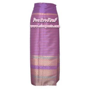 """ผ้าถุงป้ายข้าง-ผ้าไหมฯ M1 สีม่วง (เอวใส่ได้ถึง 30"""") *ตามรายละเอียดสินค้าในหน้าฯ"""