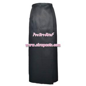 """ผ้าถุงป้ายข้าง-สีดำ N-3 (เอวใส่ได้ถึง 24""""/26""""/28"""") *รายละเอียดสินค้าในหน้าฯ (สินค้าลดราคา)"""
