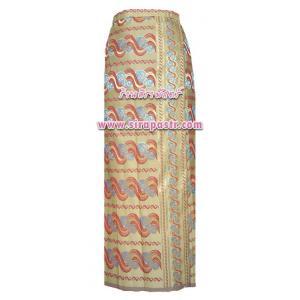 ผ้าถุง-พม่า สีเหลือง (เอวใส่ได้ถึง 32 นิ้ว) *รายละเอียดตามหน้าสินค้า