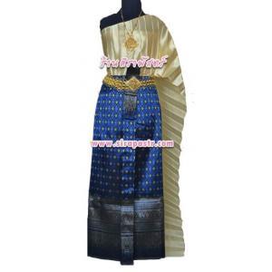 """ชุดไทย A3 (สไบฯ+ผ้าถุงฯแบบสำเร็จรูป-เอวใส่ได้ถึง 30"""") *รายละเอียดในหน้าสินค้า"""