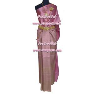 ชุดผ้าไทย BA-2 (สไบผ้าเรียบ+สไบลูกไม้+ผ้าฯ*แบบจับสด) รายละเอียดในหน้าสินค้า