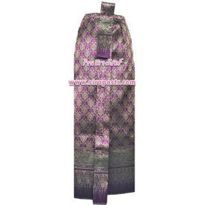 """ผ้าถุงป้าย-หน้านาง A1-3B สีชมพู-ม่วง (เอวใส่ได้ถึง 31"""") *แบบสำเร็จรูป-รายละเอียดตามหน้าสินค้า"""