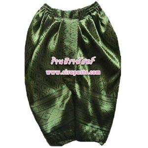 """โจงฯลายไทย-สีเขียว (Size-L เอว 26"""" ยืดได้ถึง 34"""") *รายละเอียดตามหน้าสินค้า"""