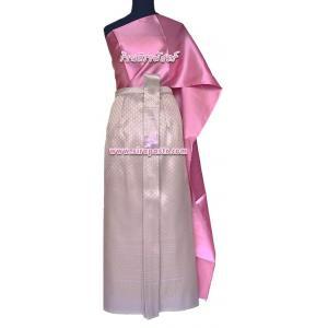 """ชุดไทย AA1 (สไบผ้าเรียบ+ผ้าถุงหน้านางฯ-เอวใส่ได้ถึง 28"""") *รายละเอียดในหน้าสินค้า"""