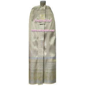 ผ้าถุงป้าย-หน้านาง NPA-3 สีเทา-เหลือง (เอวใส่ได้ถึง 28 นิ้ว) *แบบสำเร็จรูป-รายละเอียดตามหน้าสินค้า