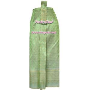 ผ้าถุงป้าย-หน้านาง NPA-1 สีเขียว (เอวใส่ได้ถึง 29 นิ้ว) *แบบสำเร็จรูป-รายละเอียดตามหน้าสินค้า