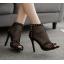 รองเท้าส้นสูงสีแอพพริคอท/ดำ ไซต์ 35-40 thumbnail 2
