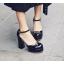 รองเท้าส้นสูงสีน้ำตาล/ดำ/ครีม/แดง ไซต์ 34-39 thumbnail 8