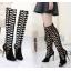 รองเท้าส้นสูงตาข่ายยาวีดำ ไซต์ 35-40 thumbnail 1