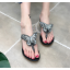 รองเท้าคีบติดผีเสื้อสีดำ/เงิน ไซต์ 35-39 thumbnail 3