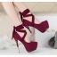 รองเท้าส้นสูง ไซต์ 34-39 สีดำ/เทา/ม่วง/เขียวขี้ม้า thumbnail 2