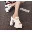 รองเท้าส้นสูงแบบสวมส้นหนาสีขาว/ดำ ไซต์ 34-38 thumbnail 8