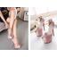 รองเท้าส้นสูง ไซต์ 34-39 สีดำ สีชมพู thumbnail 5