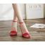 รองเท้าส้นสูงรัดข้อสายคาดหน้า 3 เส้น สีแดง/ดำ/ครีม ไซต์ 35-40 thumbnail 7