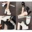 รองเท้าส้นสูงแบบสวมส้นหนาสีขาว/ดำ ไซต์ 34-38 thumbnail 1