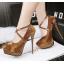 รองเท้าส้นสูง ไซต์ 34-39 สีดำ/แดง/เทา/น้ำตาล thumbnail 4